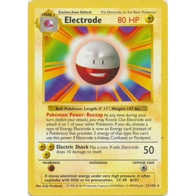 Electrode - 21/102 - Shadowless (Shad) - 401 Games