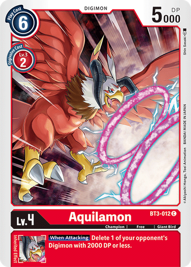 Aquilamon (BT3-012) available at 401 Games Canada