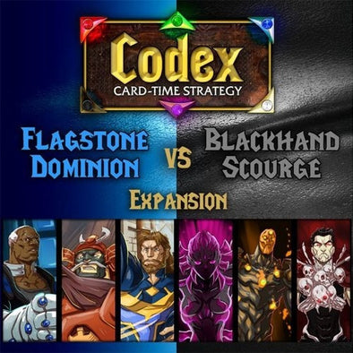 Codex: Card-Time Strategy - Flagstone Dominion vs Blackhand Scourge Expansion - 401 Games