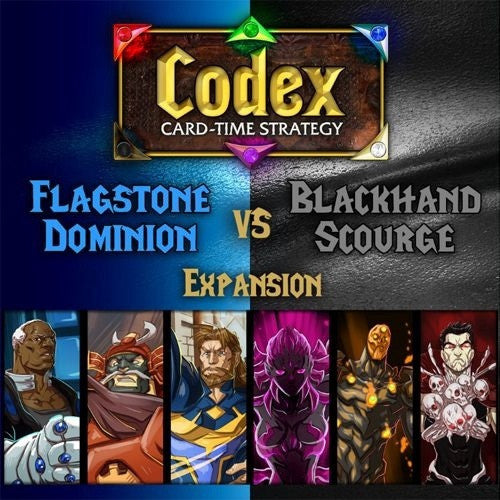 Codex: Card-Time Strategy - Flagstone Dominion vs Blackhand Scourge Expansion available at 401 Games Canada