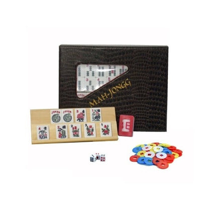 Mah Jong American - Travel Size - Wood Expressions - 401 Games