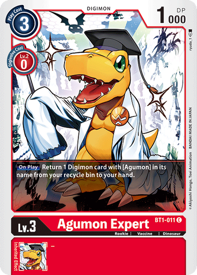 Agumon Expert (BT1-011) available at 401 Games Canada