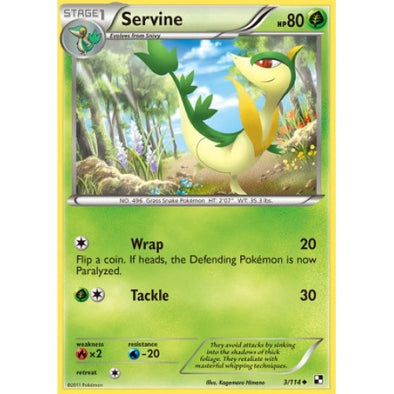 Buy Servine - 3/114 and more Great Pokemon Products at 401 Games
