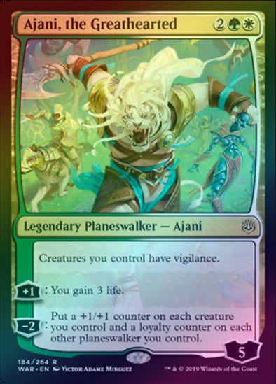 Ajani, the Greathearted (Foil) (WAR)