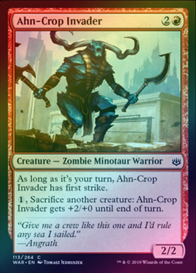 Ahn Crop Invader (Foil) (WAR)