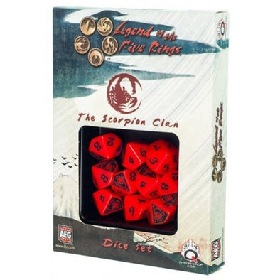 Dice Set - Q-Workshop - Legend of the Five Rings - Scorpion Clan - 401 Games