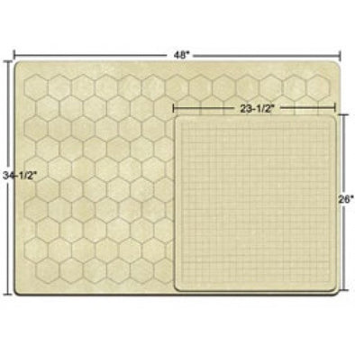 Blank Playmat - Chessex - Double Sided Hex and Square - 34.5 x 48 (97246) available at 401 Games Canada