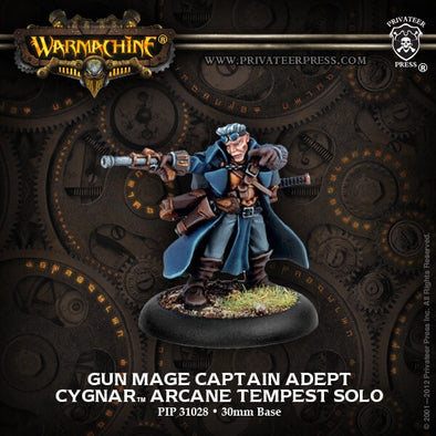 Buy Warmachine - Cygnar - Gun Mage Captain Adept and more Great Tabletop Wargames Products at 401 Games