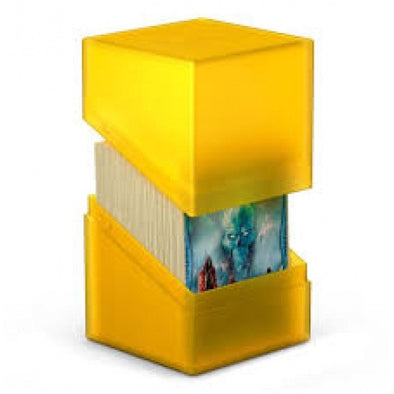 Buy Ultimate Guard - Boulder Deck Case 100+ Amber (Yellow) and more Great Sleeves & Supplies Products at 401 Games