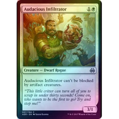 Audacious Infiltrator (Foil) (AER) available at 401 Games Canada