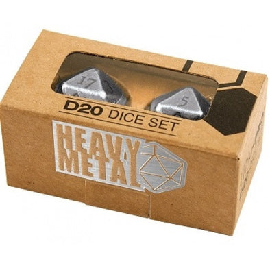 Dice Set - Ultra Pro - 2D20 - Heavy Metal 2 Piece Set - Chrome