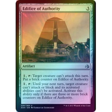 Edifice of Authority (Foil) (AKH) available at 401 Games Canada
