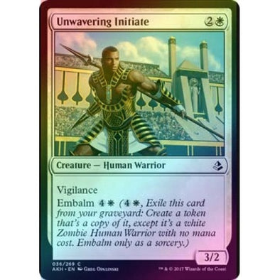 Unwavering Initiate (Foil) (AKH) available at 401 Games Canada