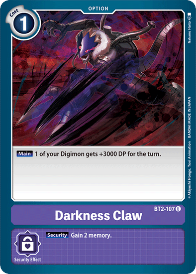 Darkness Claw (BT2-107) available at 401 Games Canada