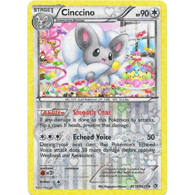 Buy Cinccino - RC19/RC25 and more Great Pokemon Products at 401 Games