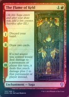 The Flame of Keld (Foil) (DOM) available at 401 Games Canada