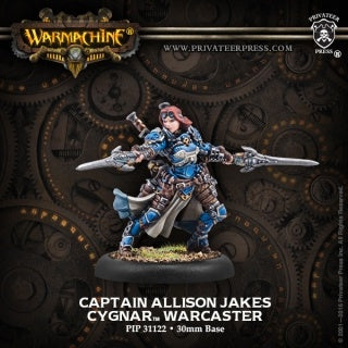 Warmachine - Cygnar - Captain Allison Jakes available at 401 Games Canada