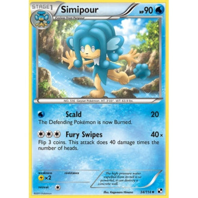 Buy Simipour - 34/114 and more Great Pokemon Products at 401 Games