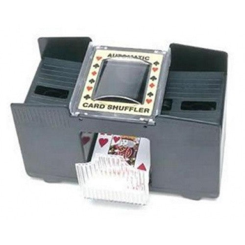 Card Shuffler Battery Operated - Wood Expression