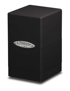 Buy Ultra Pro - Deck Box 100+ Satin Tower - Black and more Great Sleeves & Supplies Products at 401 Games