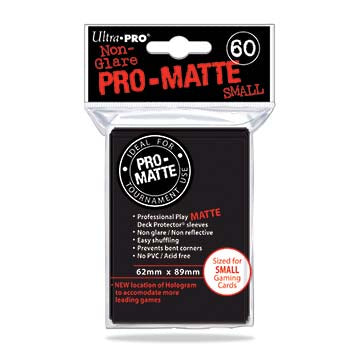 Ultra Pro - Small Card Sleeves 60ct - Pro Matte - Black - 401 Games