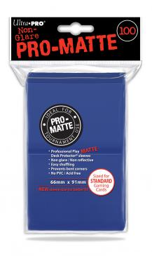 Ultra Pro - Standard Card Sleeves 100ct - Pro-Matte - Blue available at 401 Games Canada