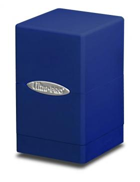 Buy Ultra Pro - Deck Box 100+ Satin Tower - Blue and more Great Sleeves & Supplies Products at 401 Games