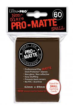 Ultra Pro - Small Card Sleeves 60ct - Pro Matte - Brown - 401 Games