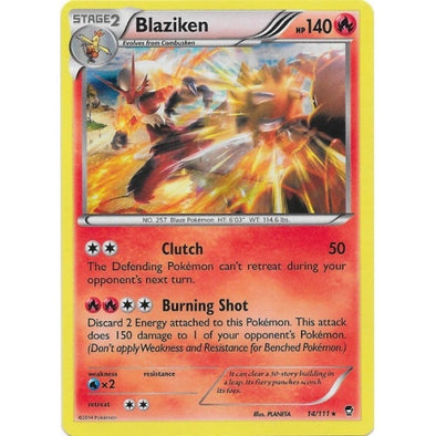 Buy Blaziken - 14/111 and more Great Pokemon Products at 401 Games