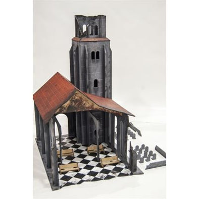 Bandua - 28MM Ruined Church - 20% OFF! available at 401 Games Canada