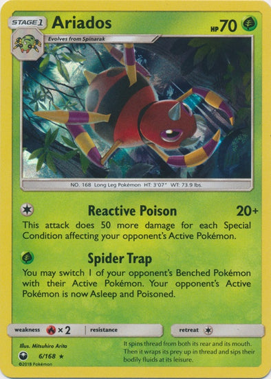 Buy Ariados - 6/168 and more Great Pokemon Products at 401 Games
