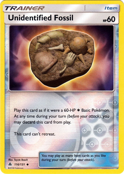 Buy Unidentified Fossil - 116/131 - Reverse Foil and more Great Pokemon Products at 401 Games