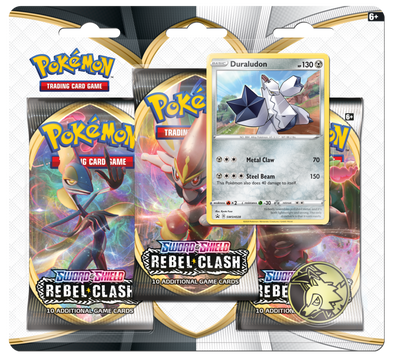 Pokemon - Rebel Clash 3 Pack Blister - Duraludon available at 401 Games Canada