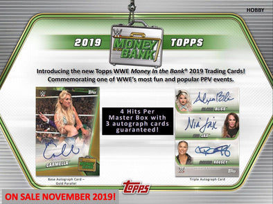 2019 Topps WWE Money in the Bank Hobby Box - 401 Games