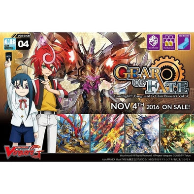Buy Cardfight!! Vanguard - GCB04 - Gear of Fate Clan Booster Box and more Great Cardfight!! Vanguard Products at 401 Games