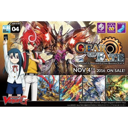Cardfight!! Vanguard - GCB04 - Gear of Fate Clan Booster Box - 401 Games