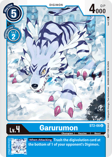 Garurumon - Alternative Art (ST2-06) available at 401 Games Canada