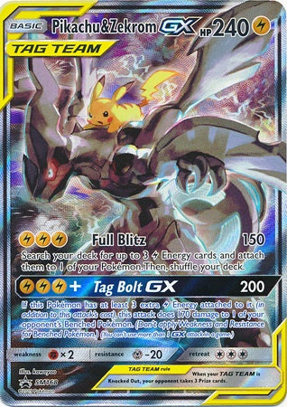 Buy Pikachu & Zekrom-GX - SM168 - Alternate Full Art and more Great Pokemon Products at 401 Games