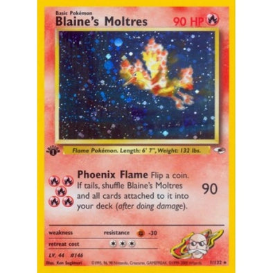 Blaine's Moltres - 1/132 - 1st Ed (1GYMH) - 401 Games