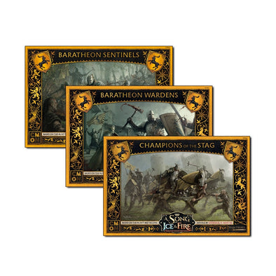 A Song of Ice and Fire - Tabletop Miniatures Game - House Baratheon - House Baratheon Bundle available at 401 Games Canada