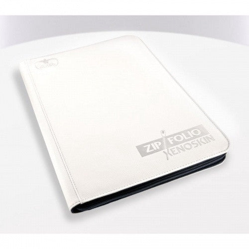 Buy Ultimate Guard - 9 Pocket Xenoskin Zipfolio - White and more Great Sleeves & Supplies Products at 401 Games