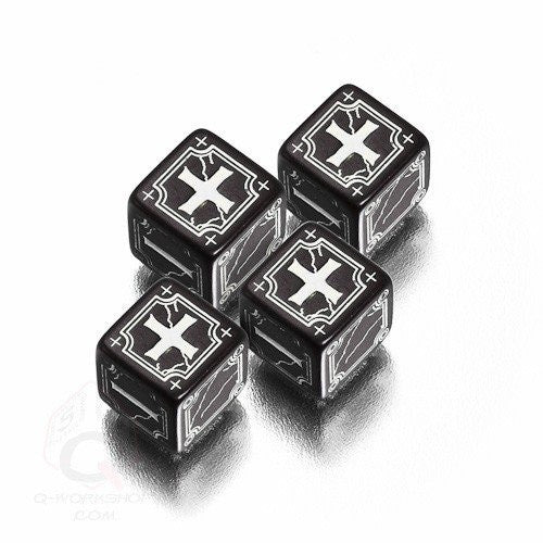 Dice Set - Q-Workshop - Fate Dice - Black - 401 Games
