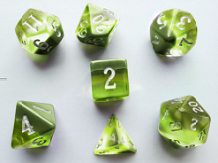 Little Dragon - Birthstone Dice - Peridot (August)