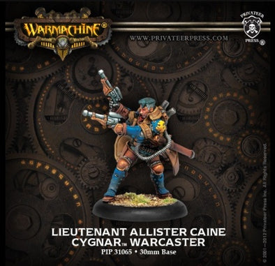Buy Warmachine - Cygnar - Lieutenant Allister Caine and more Great Tabletop Wargames Products at 401 Games