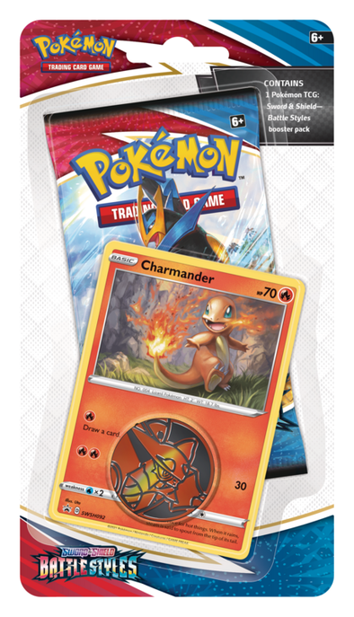 Pokemon - Battle Styles - Checklane Blister - Charmander (Pre-Order March 19th, 2021) available at 401 Games Canada