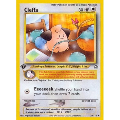 Buy Cleffa - 20/111 - 1st Ed and more Great Pokemon Products at 401 Games