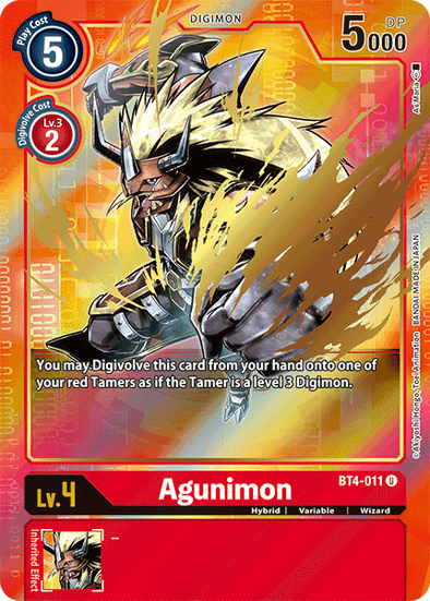 Agunimon - Alternative Art (BT4-011) (Pre-Order: 2021-05-28)