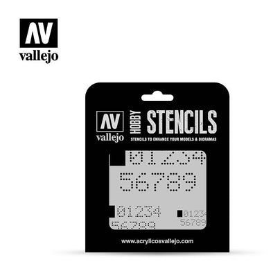 Vallejo - Hobby Stencils - Digital Numbers - 401 Games