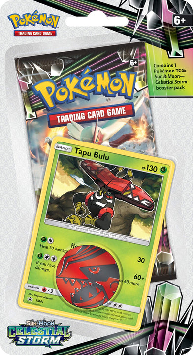 Buy Pokemon - Celestial Storm Check Lane Blisters - Tapu Bulu and more Great Pokemon Products at 401 Games