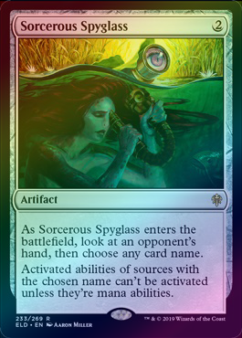 Sorcerous Spyglass (Foil) (ELD) available at 401 Games Canada